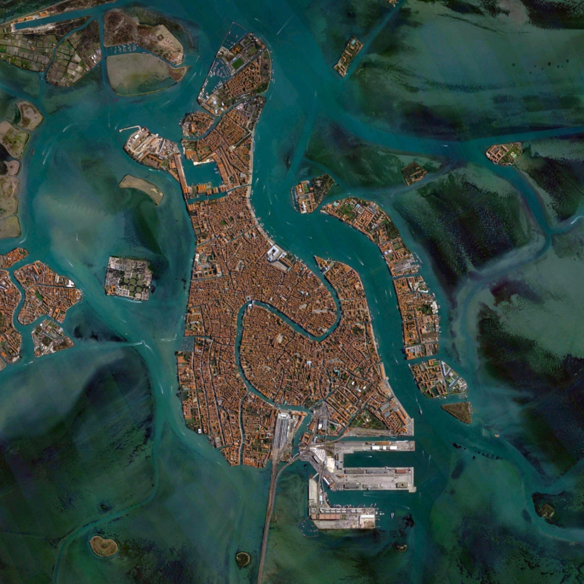 veneza mapa daily overview